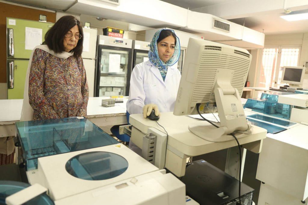 Roche Diagram healthcare magazine publications interviews  Dr Zeenat Hussain on how she spearheaded the Pakistan's first private laboratory.